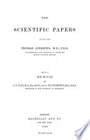 The Scientific Papers of Thomas Andrews