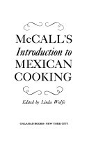 McCall s Introduction to Mexican Cooking