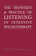 Pdf Technique and Practice of Listening in Intensive Psychotherapy Telecharger