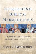 Introducing Biblical Hermeneutics Pdf/ePub eBook