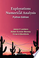 Explorations In Numerical Analysis  Python Edition