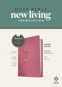NLT Large Print Thinline Reference Bible  Filament Enabled Edition  Red Letter  Leatherlike  Peony Pink