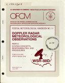 Doppler Radar Meteorological Observations