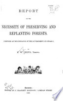 Report On The Necessity Of Preserving And Replanting Forests PDF