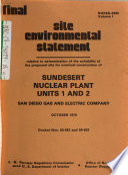 Sundesert Nuclear Power Plant Units 1 2  Construction