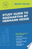 Study Guide to Siddhartha by Hermann Hesse