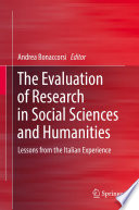 The Evaluation Of Research In Social Sciences And Humanities Book PDF