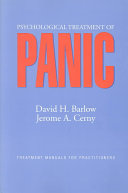 Psychological Treatment of Panic