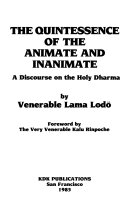 The Quintessence of the Animate and Inanimate Book PDF