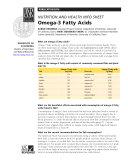 Nutrition and Health Info Sheet  Omega 3 Fatty Acids