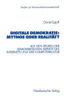 Digitale Demokratie: Mythos oder Realität?