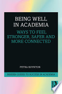 Being Well in Academia Book