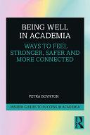 Being Well in Academia Pdf/ePub eBook
