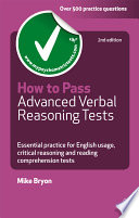 How To Pass Advanced Verbal Reasoning Tests Book PDF