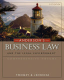 Anderson s Business Law and the Legal Environment  Comprehensive Volume Book PDF