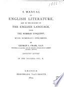 A Manual of English Literature Book