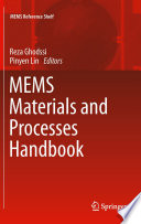 Mems Materials And Processes Handbook Book PDF