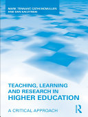Teaching  Learning and Research in Higher Education