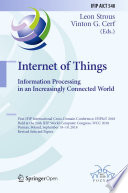 Internet Of Things  Information Processing In An Increasingly Connected World