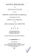 Asiatick Researches Book