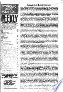 Economic and Political Weekly  , Volume 22
