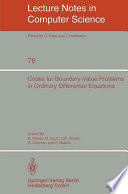 Codes for Boundary Value Problems in Ordinary Differential Equations