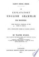 An explanatory English grammar for beginners