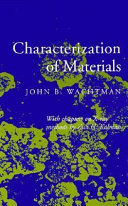 Characterization of Materials Book