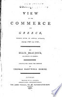 A View of the Commerce of Greece