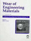 Wear of Engineering Materials