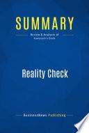 Summary Reality Check