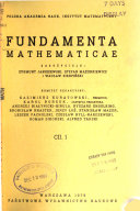 Fundamenta Mathematicae