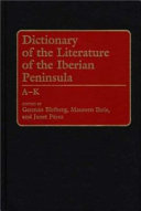 Dictionary of the Literature of the Iberian Peninsula