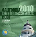 California Green Building Standards Code 2010 Book