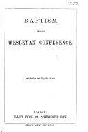 Baptism and the Wesleyan conference