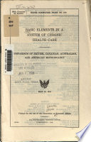 Basic Elements in a System of Chronic Health Care