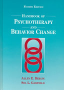 Handbook Of Psychotherapy And Behavior Change