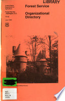 Forest Service Organizational Directory Book