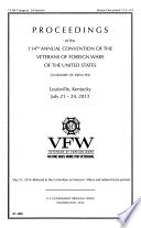 Proceedings of the     Annual Convention of the Veterans of Foreign Wars of the United States  summary of Minutes   Book PDF