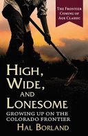High, Wide and Lonesome Pdf/ePub eBook