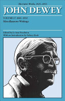 The Later Works of John Dewey  1925   1953