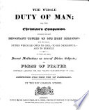 The Whole Duty Of Man Or The Christian S Companion Containing The Most Important Truths Of Our Holy Religion Etc Illustrated With Engravings By W M Craig