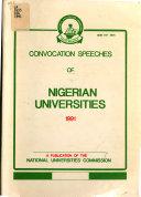 Convocation Speeches of Nigerian Universities