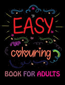 Easy Coloring Book For Adults Book PDF