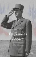 De Gaulle's Legacy Pdf/ePub eBook