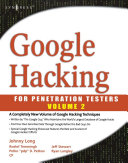 Pdf Google Hacking for Penetration Testers Telecharger