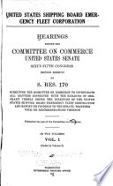 Hearings Before The Committee On Commerce United States Senate 65th Congress 2d Session On S Res 170