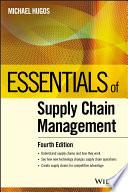 Essentials of Supply Chain Management Book