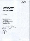 The United States Magnetic Fusion Energy Program