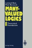 Many Valued Logics 1
